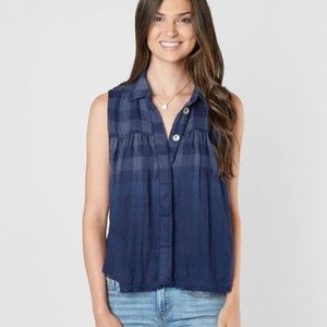Free People | NWT Hey There Sunrise Plaid Tank Top